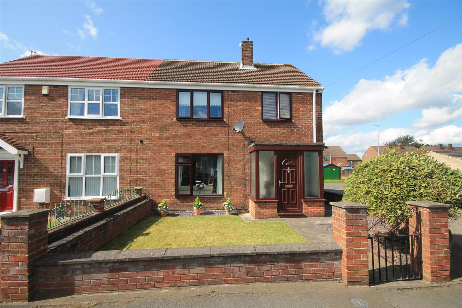 3 Bedrooms Semi Detached House for sale in Coalford Road, Sherburn Village, Durham